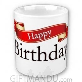 Happy Birthday Cup (Ribbon Design)