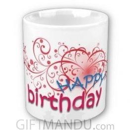 Happy Birthday Cup (Heart)