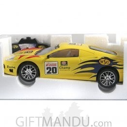 Radio Control Sunbird Racer Car (Yellow)