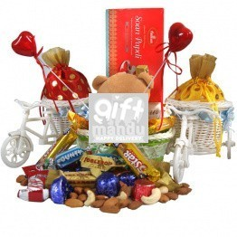 Rickshaws Full Of Chocolates & Dry Nuts
