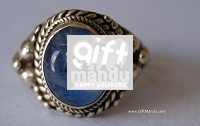 Sterling Silver Ring With Blue Moon Stone (SJ-1100)