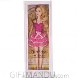 Birthday Wishes Fashion Girl Doll - Pink Dress