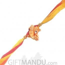Ganesh Ji Rakhi - Ganesh Side Decorated Design