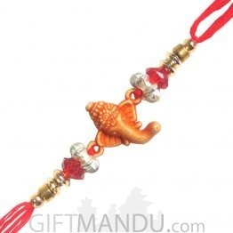 Ganesh Ji Special Rakhi - Ganesh Front Decorated Design