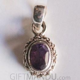 Silver Pendant - Amethyst Stone (SLH-25575251)