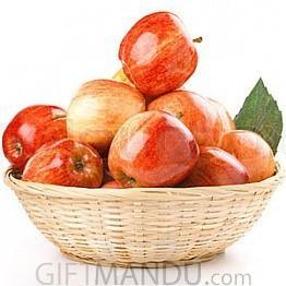 Fresh Fuji Apple Round Gift Basket (3kg+)