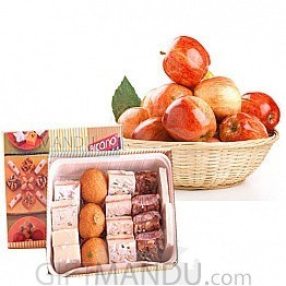 Apple Basket and Assorted Sweets