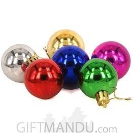 Christmas Tree Decoration Ornaments Balls (6 Pcs Pack)