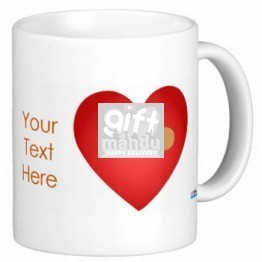 Valentine Love Mug With Personalized Message Print (Banded Heart)