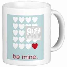 Personalized Message Print on Valentine Love Mug (Be Mine)