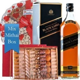 JW Black Label, Assorted Mithai Big Box and Dry Nuts Tray