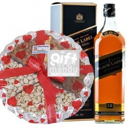 Special Treats of JW Black Label and Assorted Dry Nuts
