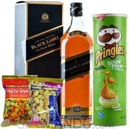 JW Black Label, Pringles and Snack Packs