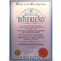 World's Greatest Boyfriend - Archies Big Size Greeting Card