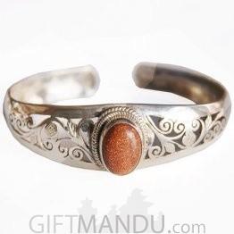 Silver Bracelet - Sand Stone