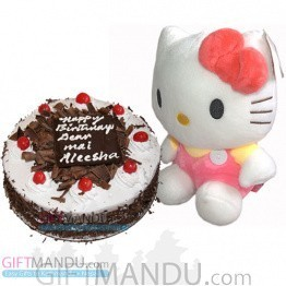 Five Star Black Forest Cake and Cute Hello Kitty