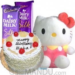 Five Star Cake, Cute Hello Kitty and Silk Chocolate Bars