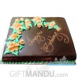 Chocolate Cake to Pokhara - Square Shape (GB23)