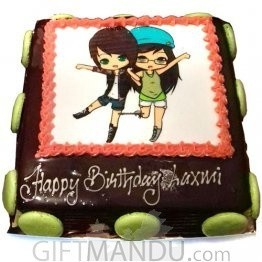 Special Character Photo Cake for Special Friend for Kathmandu Valley