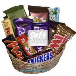 Cadbury Mix Chocolates Gift Basket (14 Chocolates)