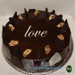 Love Chocolate Cake from Five Star Hotel (Walnut)