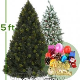 Christmas Tree - Artificial Pine Tree With Decoration (Attractive Good Quality) - 5 Feet Tall