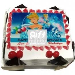 Cinderella Photo Cake for Kathmandu Valley