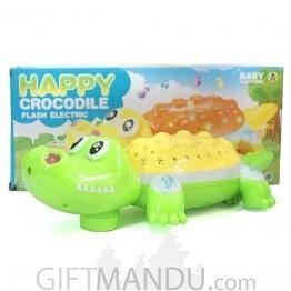Crocodile Toy - Flash, Music, Voice, Rotating Wheels