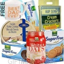 Sugar Free Biscuits, Danish Cookies, Oats and Free FD Coffee Mug