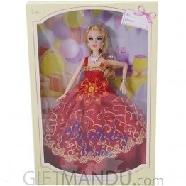 Birthday Wishes Beautiful Girl Doll (Red Dress)