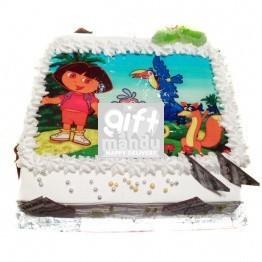 Dora - The Explorer Photo Cake for Kathmandu Valley
