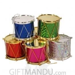 Christmas Tree Decoration Ornament Drums - (6 Pcs Pack)