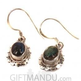 Silver Earring - Moon Stone (SLH-5009)