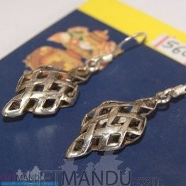 Silver Earring - Net Design