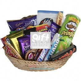 Chocolates Snacks All Season Gift Basket (18 Items)