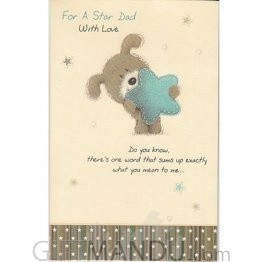 For A Star Dad With Love Greeting Card