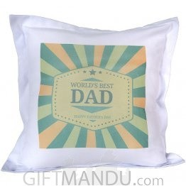 World's Best Dad Printed Cushion
