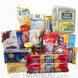 All-in-One - Biscuits, Oats, Horlicks, Viva, Tea, Coffee, Sweets and more (17 Items) (MD-91022)