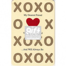 XOXO My Dearest Friend Greeting Card