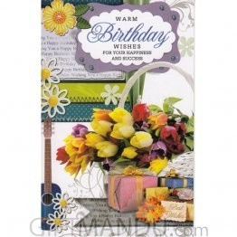 Warm Birthday Wishes For Your Happiness And Success - Greeting Card