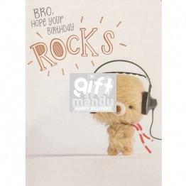 Bro Hope Your Birthday ROCKS - Greeting Card