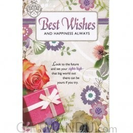 Best Wishes And Happiness Always - Greeting Card (GC-5262)