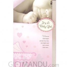 It's A Baby Girl - Greeting Card