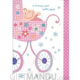 A Brand New Baby Girl - Greeting Card