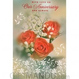 With Love On Our Anniversary - Greeting Card