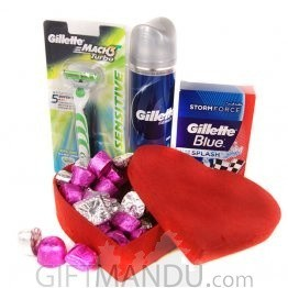 Gillette's Shaving Kits and Gourmet Chocolates Box
