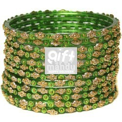Green Bangles Chura - Srawan Specials
