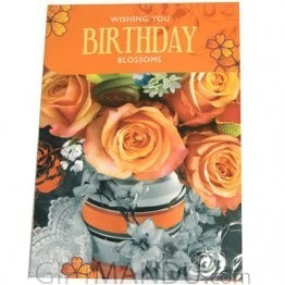 Wishing You Birthday Blossoms - Greeting Card