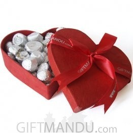 Special Red Heart Boxed Assorted Gourmet Chocolates