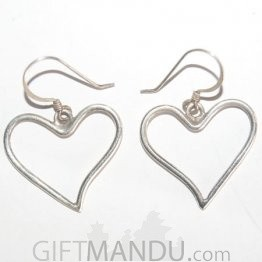 Silver Earring - Love Heart Design